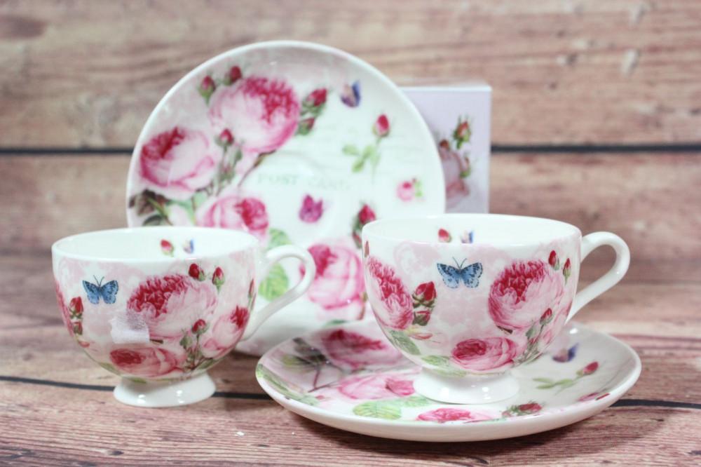 2-dielna sada (DORA PAPIS) - ružové kvety