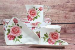 2-dielna sada (ENGLAND COLLECTION) v darčekovej krabici -kvety ružové