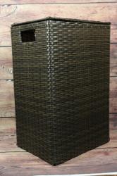 Prútený kôš s úchytkou a vrchnákom (v. 48,5 cm) - umelý ratan
