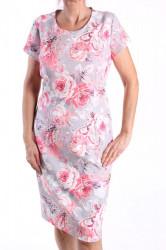 924079171c4b Dámske elastické vzorované šaty - ružovo-sivé ANTÚRIA