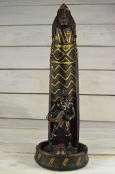 Africký muž so stojanom na vonné tyčinky + vonná tyčinka (v. 27,5 cm) č. 2