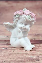 Anjelik s venčekom na hlave 3. (v. 7 cm)