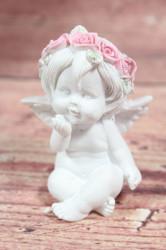 Anjelik s venčekom na hlave 4. (v. 7 cm)