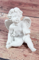 Anjelik sediaci - biely 2. (v. 9,2 cm)