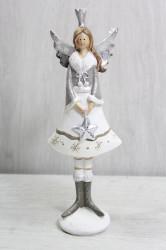 Anjelik so striebornou hviezdou v ruke (v. 23 cm)