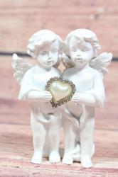 Anjelikovia seo srdiečkom v ruke (v. 9,5cm)