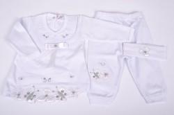 Baby súprava s čelenkou - biela