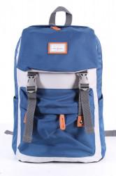 Batoh 6018 (31x43x17 cm) - sivo-modrý
