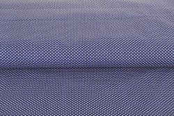 Bavlnená látka š. 240 m, 100% bavlna - námornícka modrá s bielymi bodkami