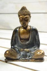 Budha - sivé šaty (v. 16 cm)