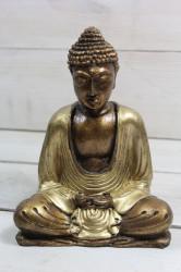 BUDHA v zlatých šatách (v. 15 cm)