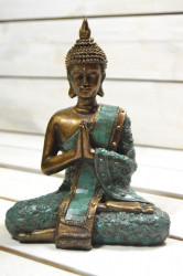 Budha - zelené šaty (v. 18,5 cm)