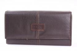 Čašnícka peňaženka DI WANG (Z18) - tmavohnedá (19x10 cm)