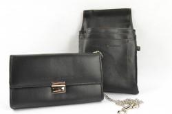 Čašníčka peňaženka s puzdrom - čierna (11x18 cm)