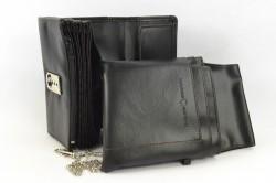 Čašníčka peňaženka s puzdrom - čierna (11x18 cm) #1
