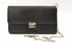 Čašnícka peňaženka s retiazkou (0684) - čierna (18x10 cm)