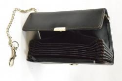 Čašnícka peňaženka s retiazkou (0684) - čierna (18x10 cm) #1