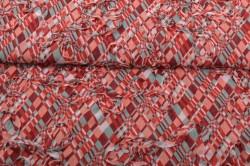 Červeno-azúrová károvaná látka - Zlatka (m) - š.140