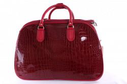 Cestovná taška lakovaná - bordová (42x29x22 cm)
