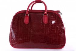 Cestovná taška lakovaná - bordová (45x31x25 cm)
