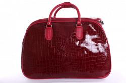 Cestovná taška lakovaná - bordová (49x35x28 cm)