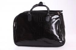 Cestovná taška lakovaná - čierna (49x35x28 cm)
