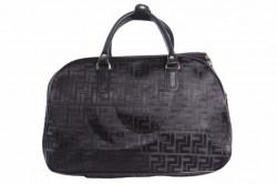 Cestovná taška lesklá - čierna (41x26x19 cm)