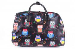 Cestovná taška na kolieskach VZOR D3268 (52x37x30 cm) - čierna