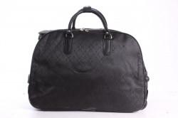 Cestovná taška na kolieskach vzorovaná - čierna (52x37x30 cm)