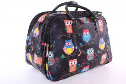 Cestovná taška SOVY (50x35x29 cm) - čierna #1