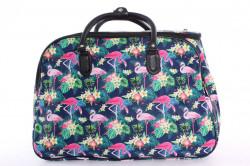 Cestovná taška vzorovaná (50x35x29 cm) - modrá