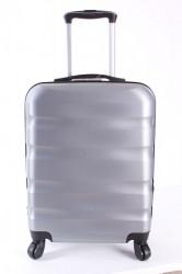 Cestovný kufor CABIN (55x40x20 cm s kolieskami) - strieborno-sivý