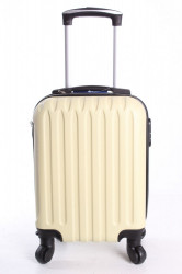 Cestovný kufor LENARDO DA VINCI - vanilkový (32x42x20 cm + 5 cm kolieska)