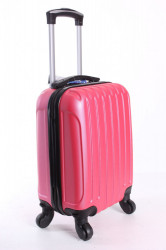 Cestovný kufor LEONARDO DA VINCI - ružový (32x42x20 cm + 5 cm kolieska) #1