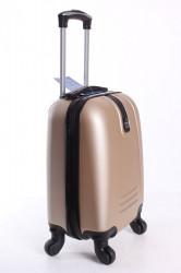 Cestovný kufor LEONARDO DA VINCI - šampanskej farby 1. (32x42x20 cm + 5 cm kolieska) #1