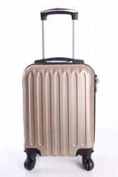 Cestovný kufor LEONARDO DA VINCI - šampanskej farby  (32x42x20 cm + 5 cm kolieska)