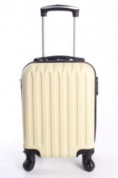 Cestovný kufor LEONARDO DA VINCI - vanilkový (32x42x20 cm + 5 cm kolieska)