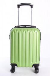 Cestovný kufor LEONARDO DA VINCI - zelený (32x42x20 cm + 5 cm kolieska)