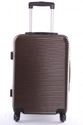 Cestovný kufor malý (52x37x22 cm+kolieska) VZOR 4 - hnedý
