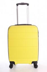 Cestovný kufor malý CABIN (55x40x20 cm  + 5 cm kolieska) - neónovo žltý