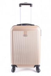 Cestovný kufor malý LEONARDO DA VINCI - béžový (53x37x23 cm + 5 cm kolieska)