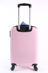 Cestovný kufor malý LEONARDO DA VINCI - bledoružový (53x37x23 cm + 5 cm kolieska) #1