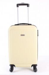 Cestovný kufor malý LEONARDO DA VINCI - bledožltý (53x37x23 cm + 5 cm kolieska)