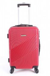 Cestovný kufor malý LEONARDO DA VINCI - červený (50x37x21 cm + 5 cm kolieska)