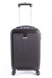 Cestovný kufor malý LEONARDO DA VINCI - čierny (50x35x20 cm + 5 cm kolieska)