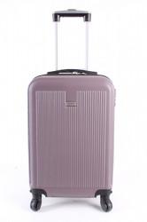 Cestovný kufor malý LEONARDO DA VINCI - fialový (53x37x23 cm + 5 cm kolieska)