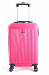 Cestovný kufor malý LEONARDO DA VINCI - ružový (50x35x20 cm + 5 cm kolieska)