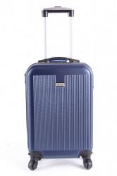 Cestovný kufor malý LEONARDO DA VINCI - tmavomodrý (50x35x20 cm + 5 cm kolieska)