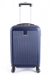 Cestovný kufor malý LEONARDO DA VINCI - tmavomodrý (53x37x23 cm + 5 cm kolieska)