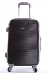 Cestovný kufor plastový-stredný-čierny VZOR 3 (63x42x28cm+kolieska)